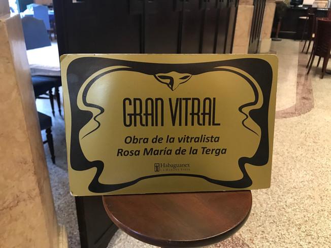 Gran Vitral in Havana, Cuba. Wielki Witraż w Hawanie na Kubie.