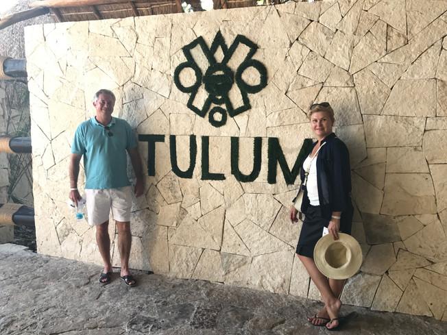 Mayan Ruins in Tulum. Ruiny Majów w Tulum.