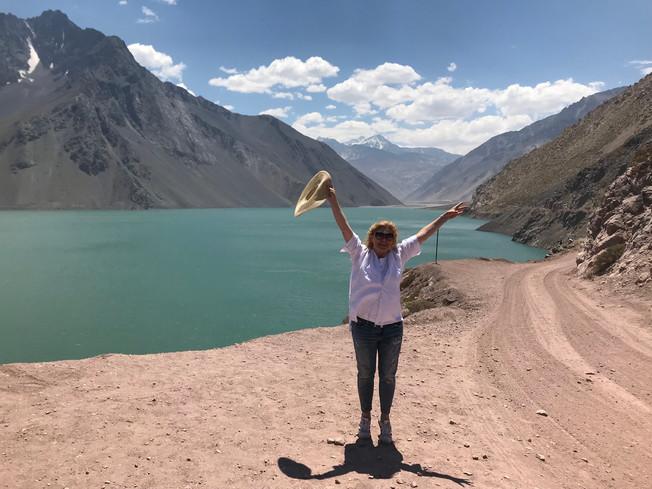 Cajon del Maipo. Zapora EL Yeso. Chile
