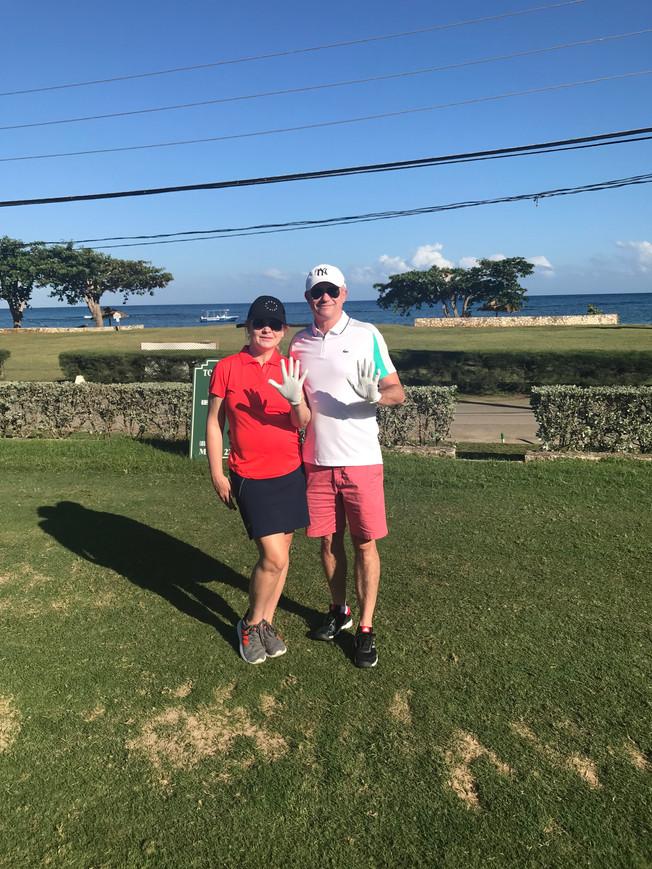 Golf at Tryall Club in Jamaica. Golf w klubie Tryall na Jamaice.