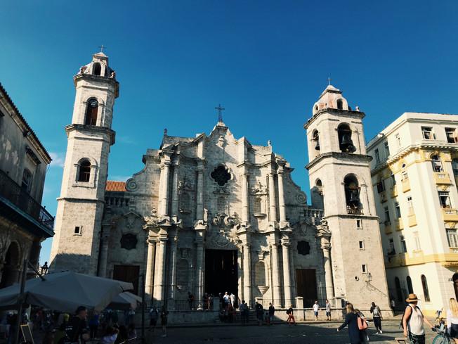Havana Cathedral. Katedra w Hawanie.