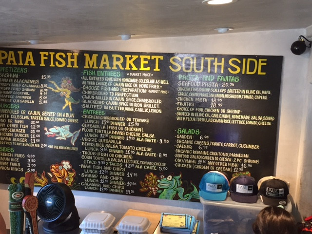 PAIA FISH MARKET SOUTH SIDE KIHEI ROAD