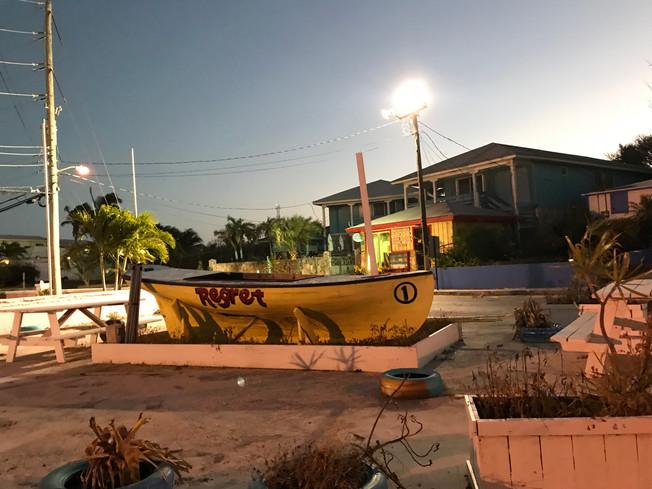 George Town Exuma Bahamas. Miasto George Town-stolica wysp Exuma.