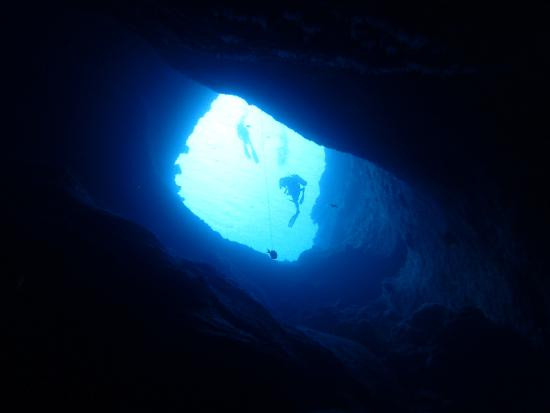 Blue Hole Dive. Nurki w Blue Hole.