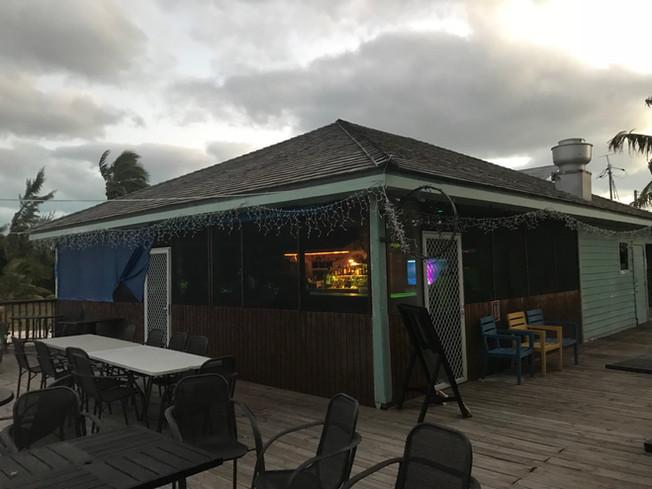 Shoreline restaurant in Exuma. Restauracja Shoreline, Bahamas