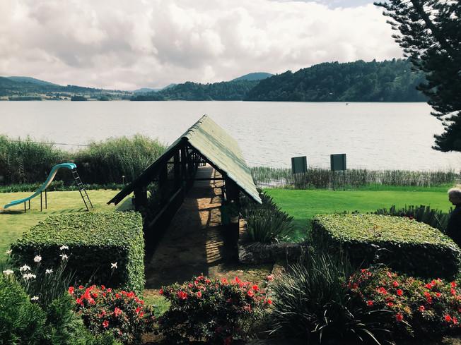 La Troje de Ala restaurant with the gorgeous views of Lake Zirahuen.
