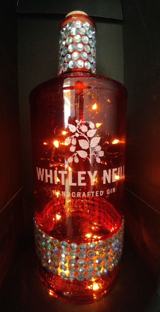 Red Whitley diamonte - lit