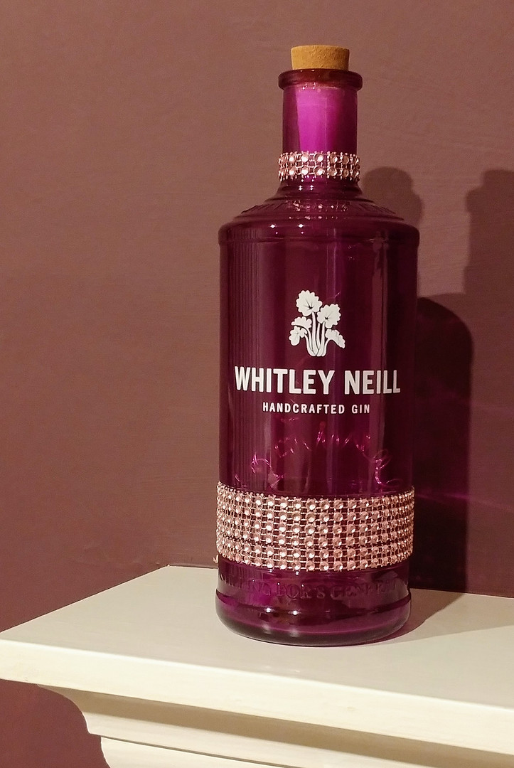 Purple Whitley diamonte