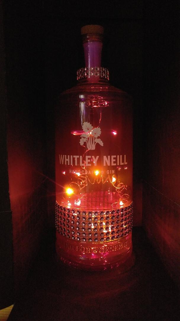 Purple Whitley diamonte - lit
