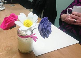 Felt flowers, craft class