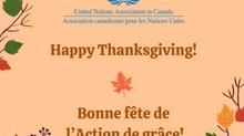 Happy Thanksgiving! Bonne fête de l'Action de grâce!