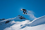a physio osteopath from courchevel jump a rock snowboarding