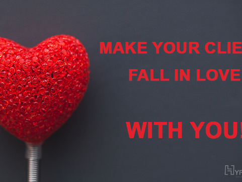 This Valentine's Day make your clients fall in love… WITH YOU!