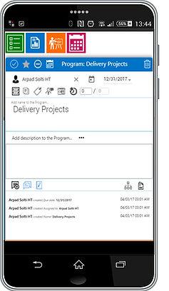 Projec Management Software Sceenshot Mobile