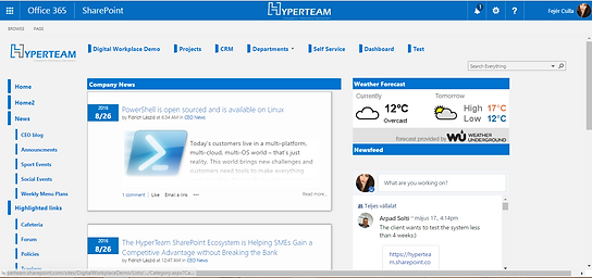 HyperTeam Offce Screenshot