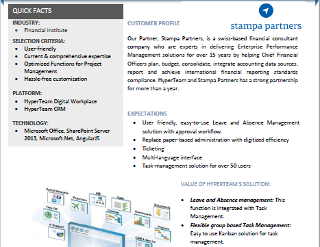 CRM & TASK MANAGEMENT + PTO + TIMESHEET IMPLEMENTATION WITH STAMPA GROUP