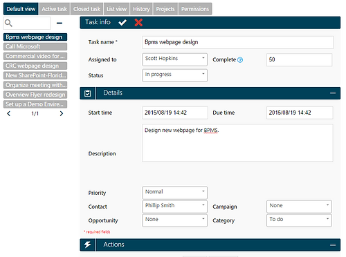 CRM ScreenShot