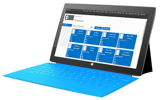 tablet software screenshot