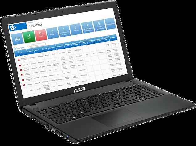 laptop software screen
