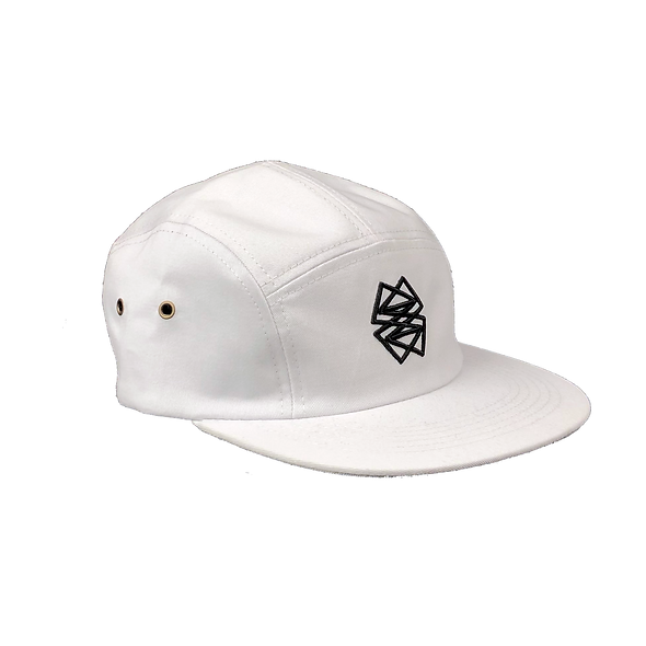 White 5 panel hat
