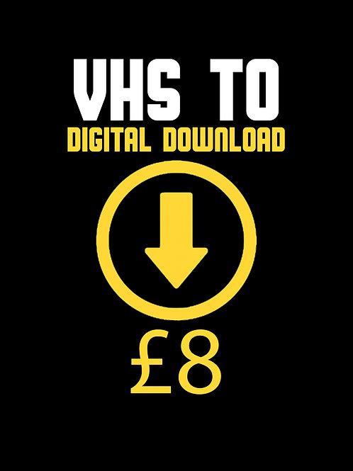 VHS Transfer Digital Download