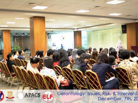 REPORT SEMINAR: Gerontology 2013