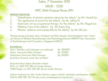 EVENTS: Gerontology Seminar 2013