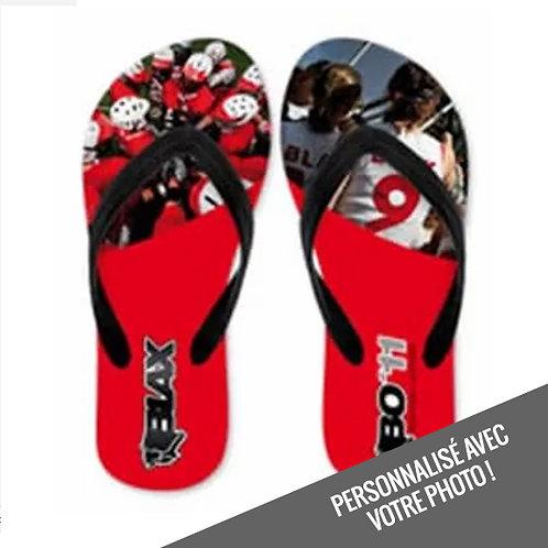 P25 - Sandales pleine impression
