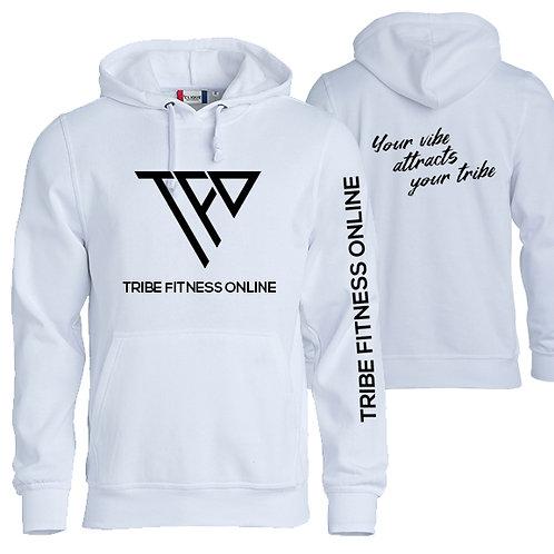 TF03 - Unixex white hoodie - Chandail capuchon blanc unisex
