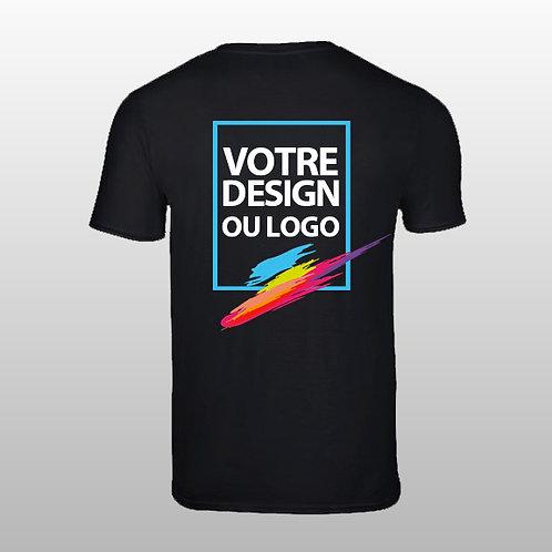 T-shirt Unisexe personnalisé avec impression arrière