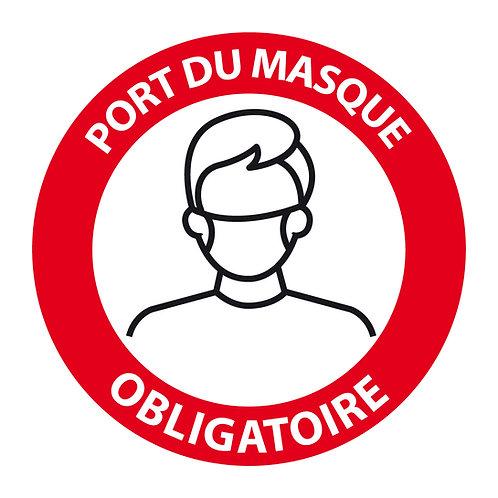 P03 -Autocollant mural ou vitrine - Port du masque obligatoire