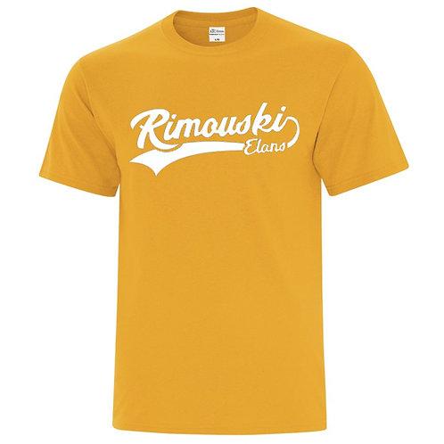 B00- T-shirt régulier junior et adulte avec logo 1 couleur