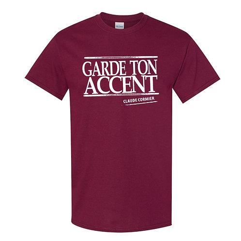 CC01 - T-shirt / Garde ton accent