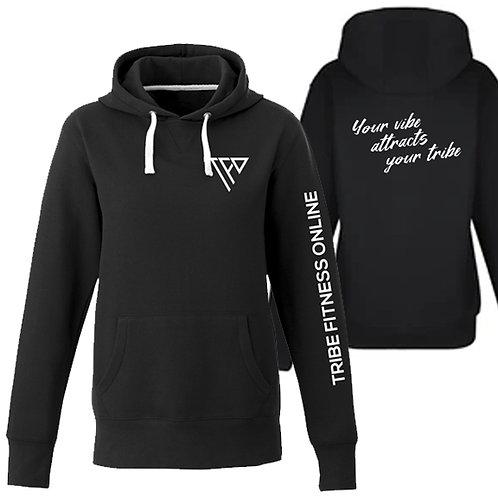 TF02 - Women black hoodie - Chandail capuchon noir femme