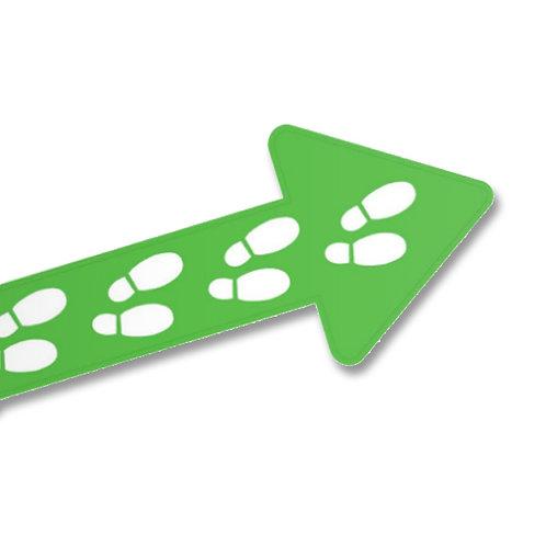 J06-Flèche autocollante pour plancher - Vert 5 x 12.25 po
