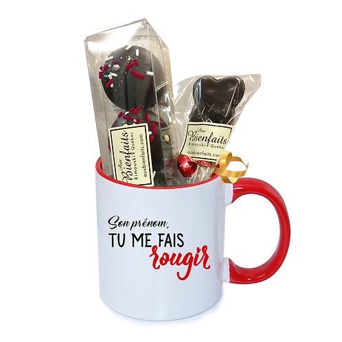 T7-Tasse avec prénom personnalisé / Chocolat