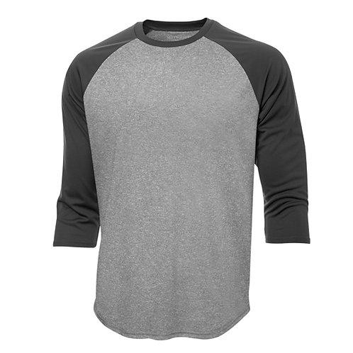 Chandail type baseball polyester - unisexe S3526