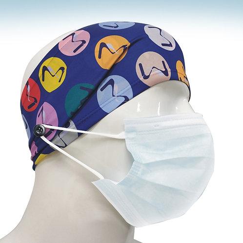 M01-Bandeau de tête avec bouton lavable (Lot de 100)