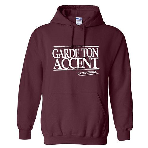 CC11 - Chandail capuchon / Garde ton accent
