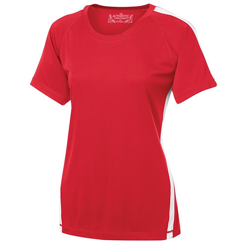 T-shirt technique 100% polyester Femme 2 tons - L3519