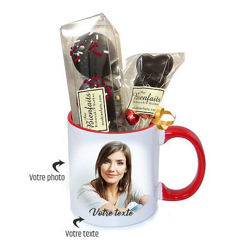 TP2-Tasse avec et photo et texte personnalisé / Chocolat