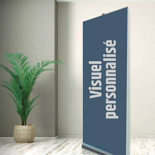 J01-Support d'affichage Roll-up - Visuel personnalisé
