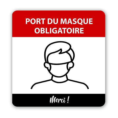 P01 -Autocollant mural ou Affiche coroplast - Port du masque obligatoire