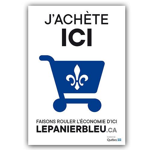 Affiche visuel officiel - Le Panier Bleu 11,5 x 16,5 po