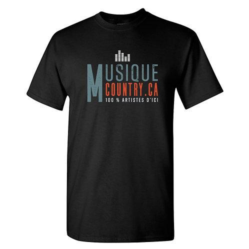 MCCA15 - T-Shirt unisexe noir logo couleur