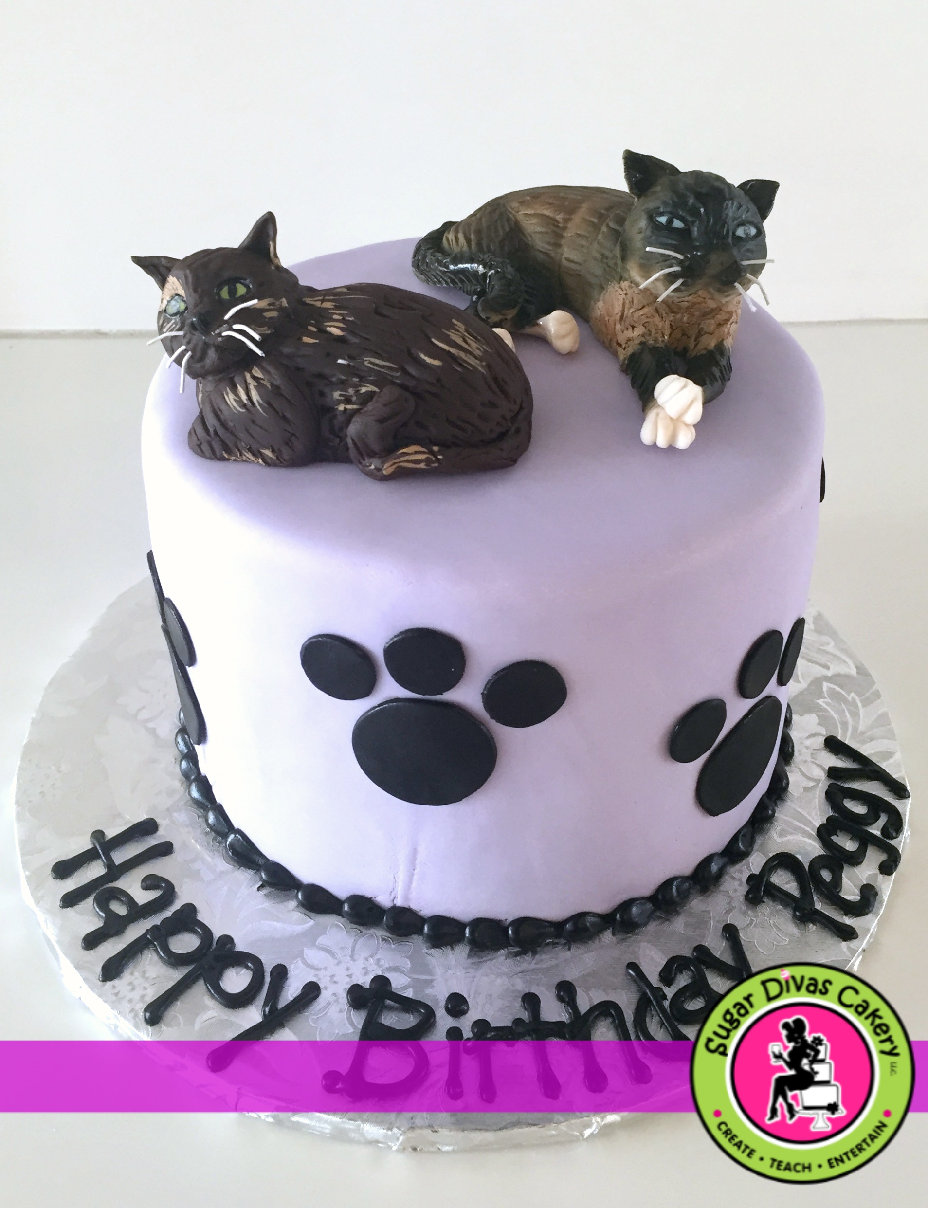 2 cats cake