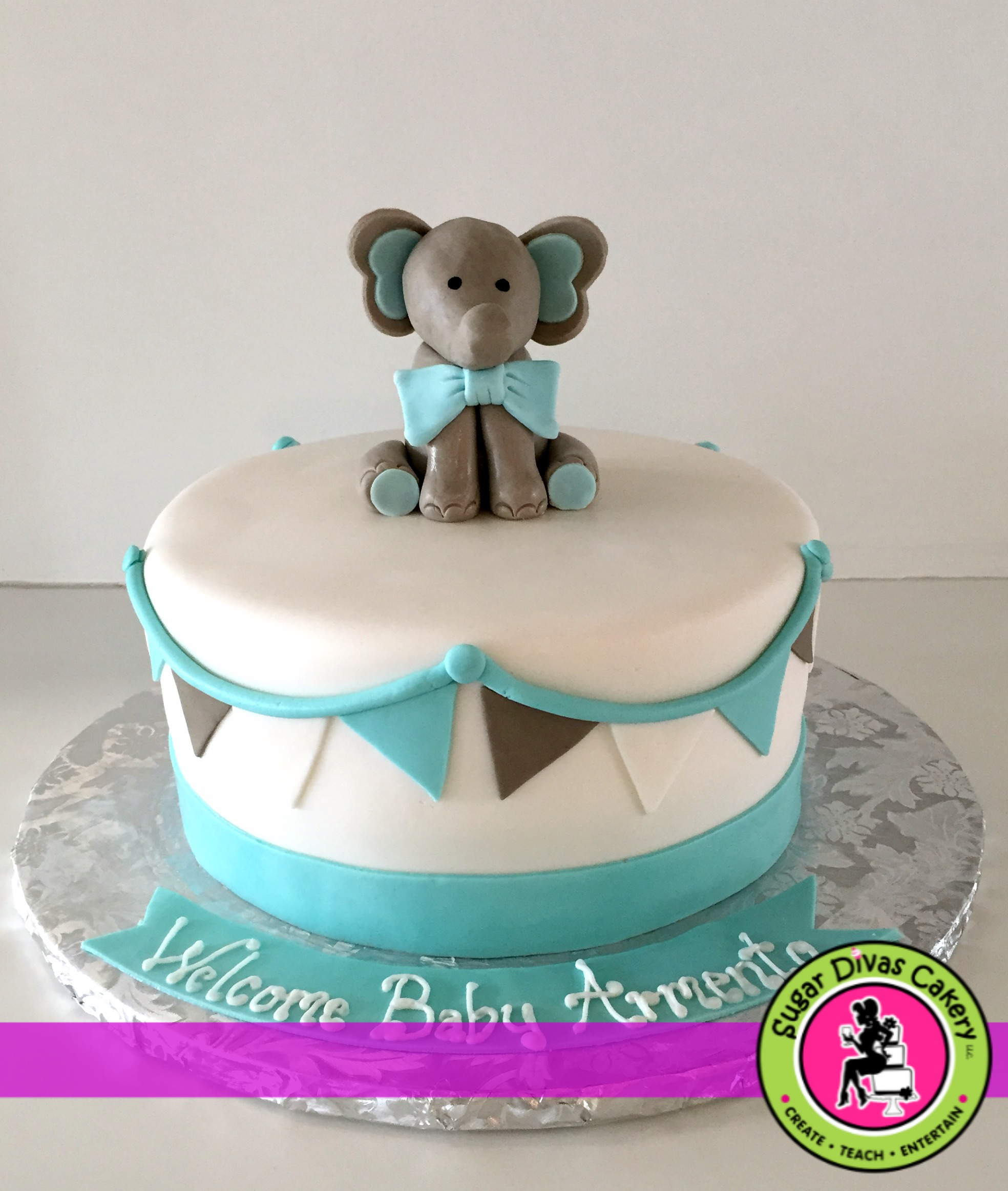 elephant with bunting