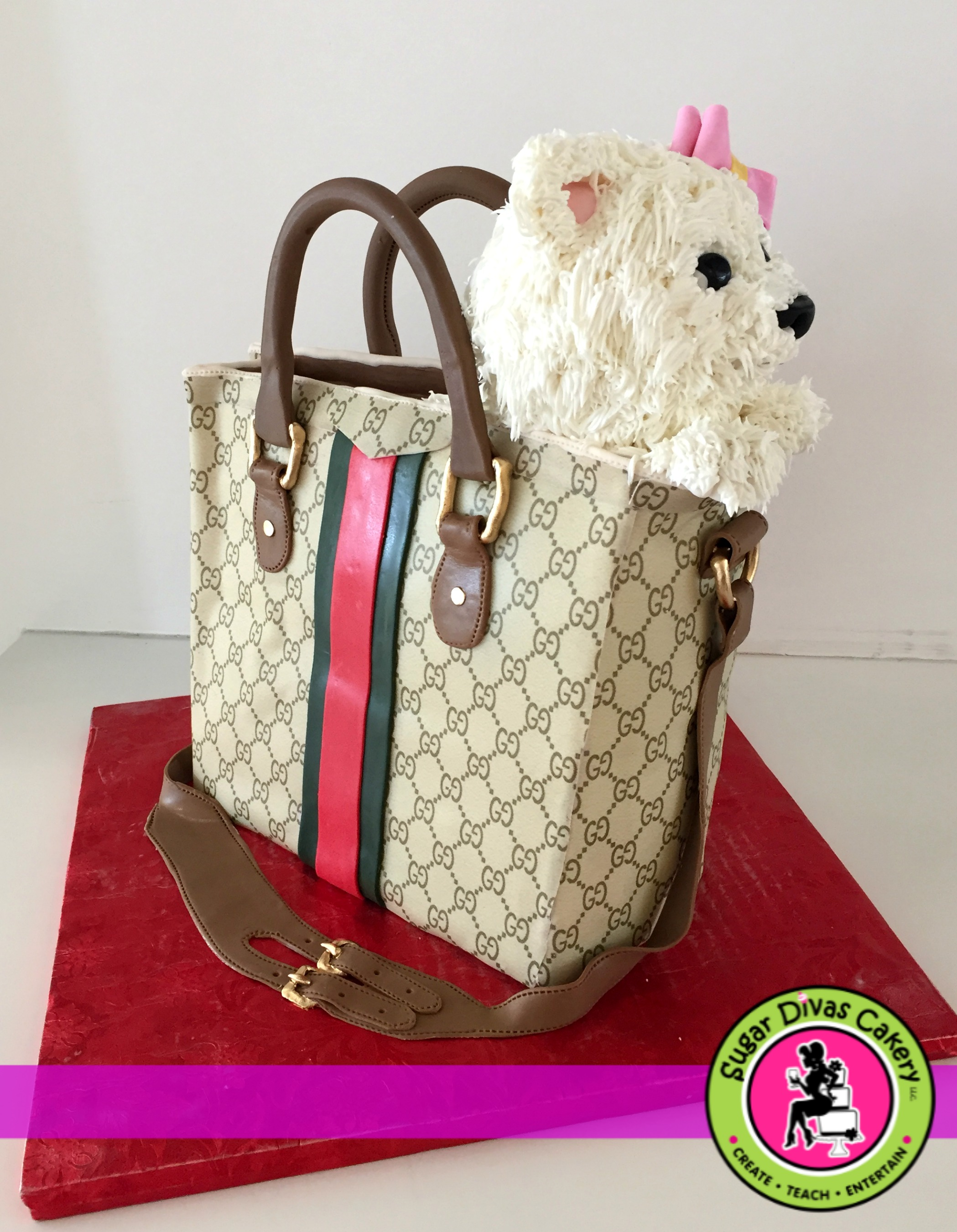 gucci bag with dog