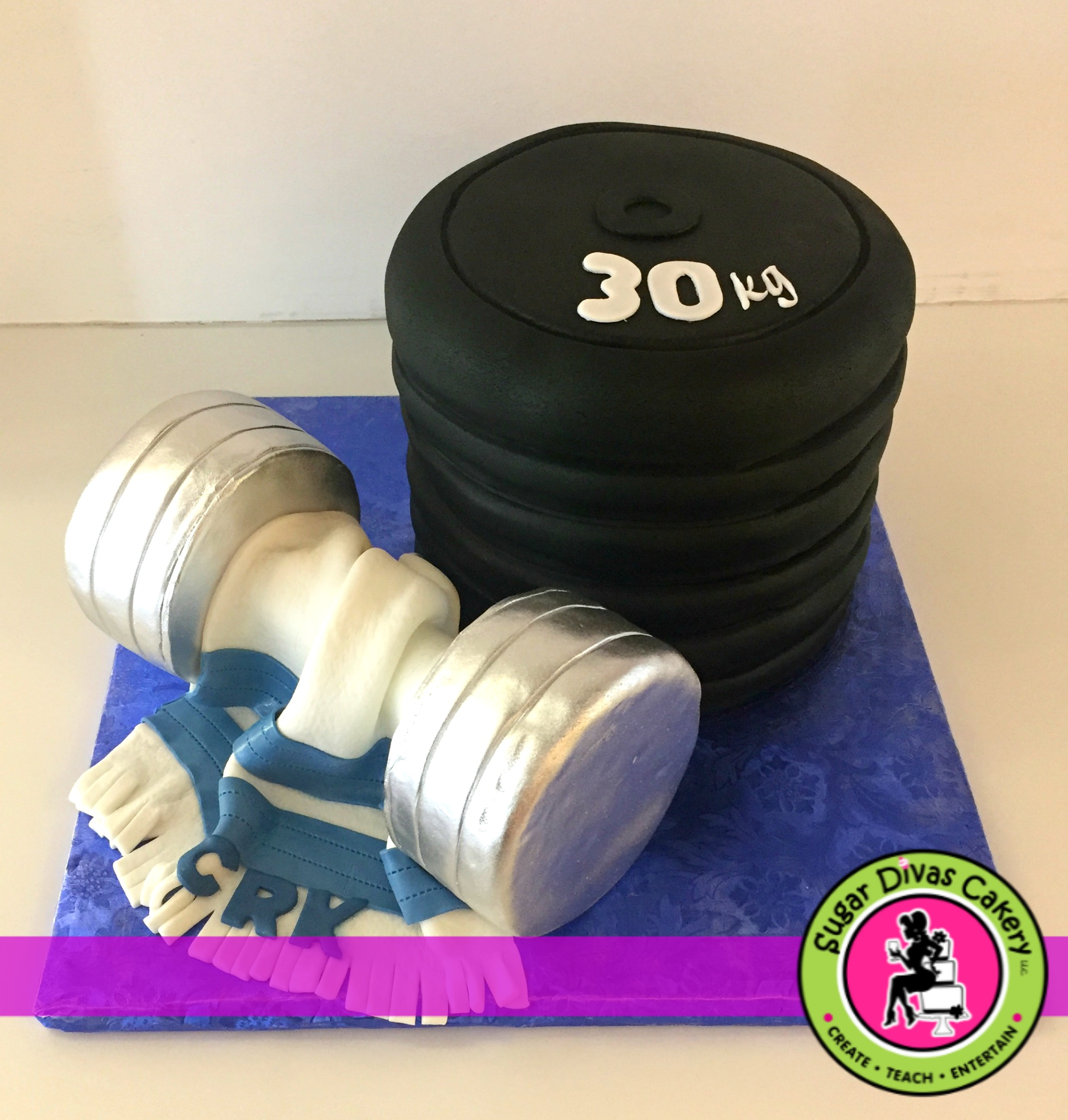 weights workout cake