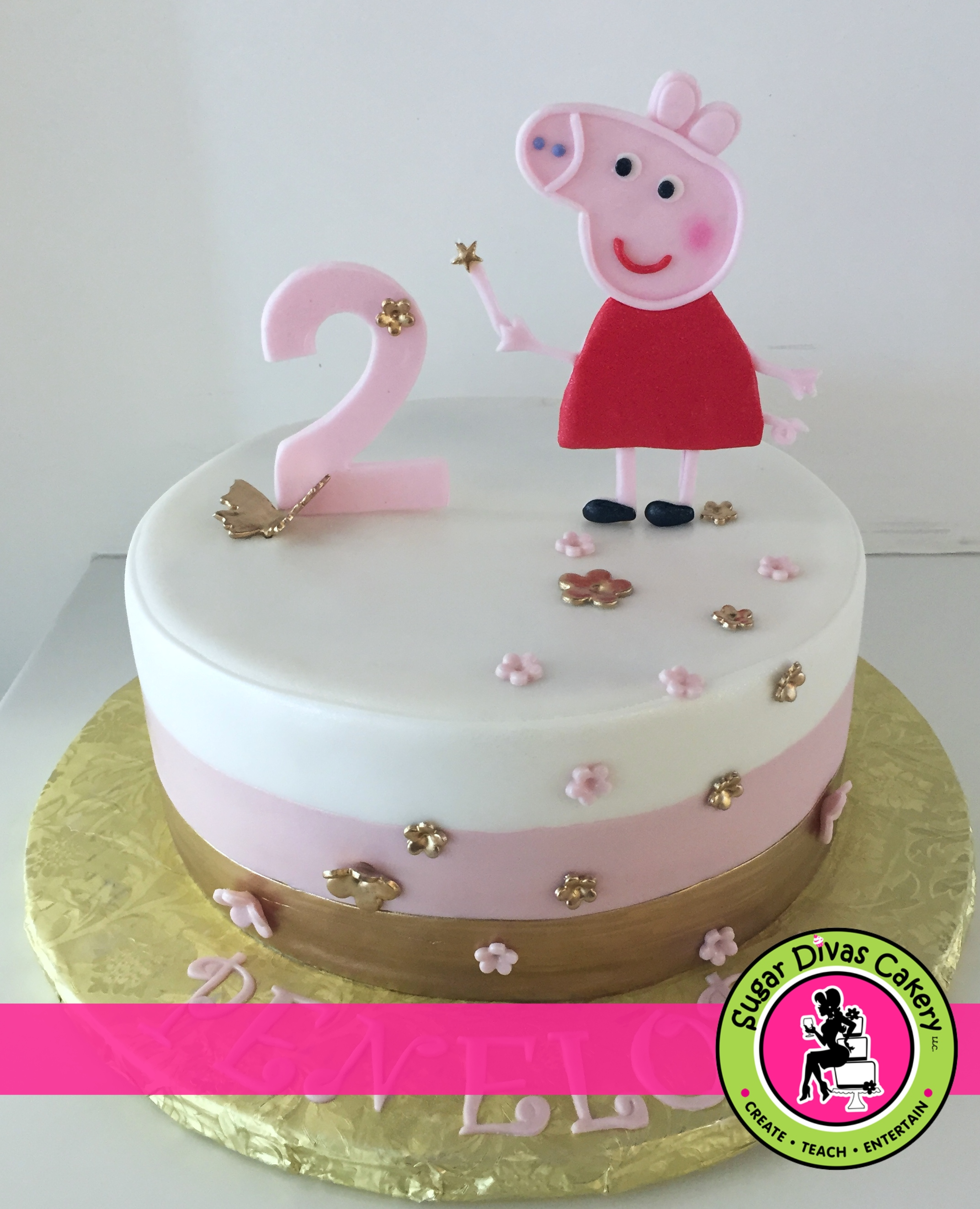 peppa pig with gold
